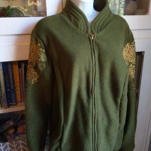 ❄️🍁Bob Mackie Wearable Art jacket sz L